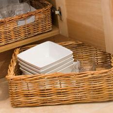 Set of 4 Rectangular Wicker Baskets