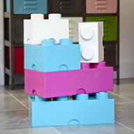Giant LEGO Storage Blocks - Unisex Playroom Bundle