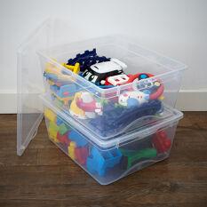 2 x Plastic Toy Storage Boxes