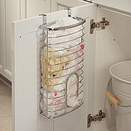 Over Cabinet Carrier Bag Holder