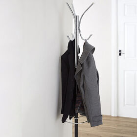 Black and Chrome Coat Stand