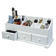 White Wood Cosmetics Organiser