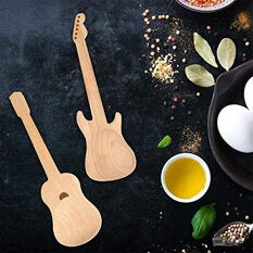Guitar Shaped Wooden Spoons