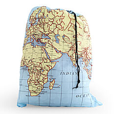 Travel Laundry Bag - World Map