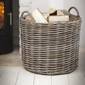 Giant Rattan Log Basket