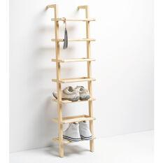 Wooden Ladder Shoe Rack - Tall