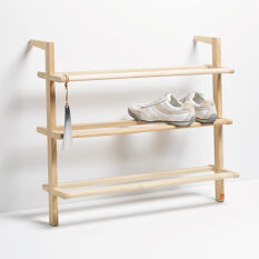Wooden Ladder Shoe Rack - Wide