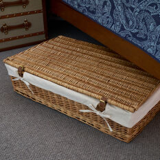 Underbed Storage Basket - Lined Willow