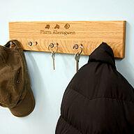 Personalised Oak Coat & Key Rack