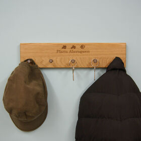Personalised Oak Coat & Key Rack