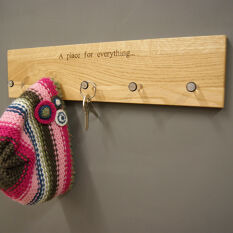 Oak Coat Rack - A Place For Everything