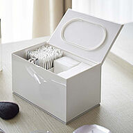 Cotton Pad and Bud Lidded Storage Box