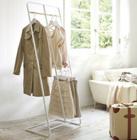 Freestanding Scandi Clothes Storage Rack - Tower