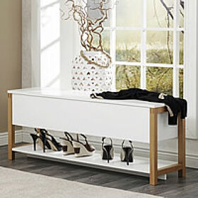 Northgate Flip-Top Storage Bench - Oak