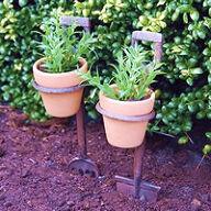 Fork & Spade Flower Pot Holders