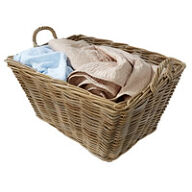 Wicker Storage Basket with Handles
