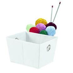 Foldable Open Storage Basket - White
