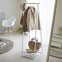 Slimline Coat Stand with Shelf - Scandi