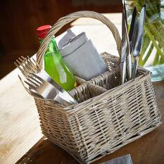 Wicker Cutlery & Condiment Organiser