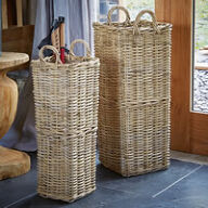Buff Rattan Umbrella Stand - Large