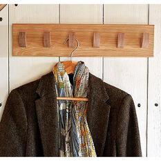 Solid Oak 6 Hook Coat Rack