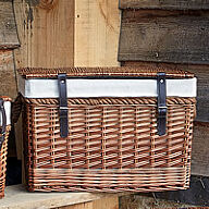 Wicker Chest with Rope Handles - Medium