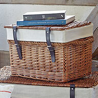Wicker Chest with Rope Handles - Small