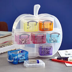 Apple Organiser with 7 x 0.14L Really Useful Boxes