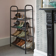5 Tier Shoe Rack - Black