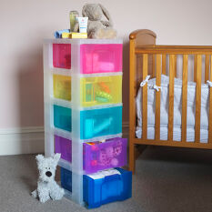 Storage Tower with 5 x 12 Litre Really Useful Drawers