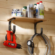 2 x Large Shelf Supports with Tool Hangers