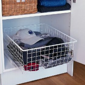Elfa Clothes Easy Glider & Basket - 35cm wide