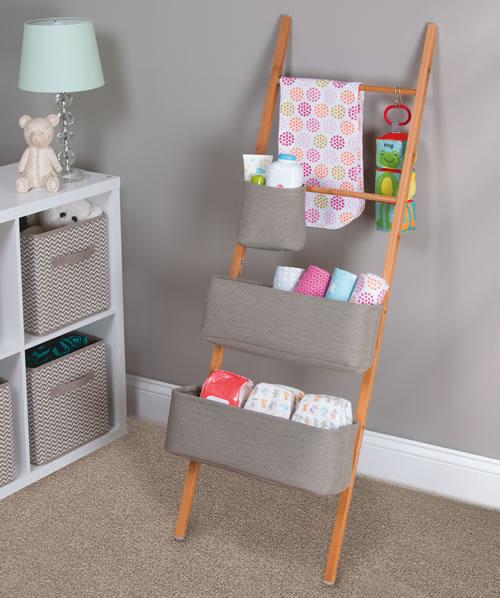 Wren Bamboo Ladder Shelf