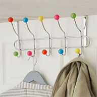 Over Door Multicoloured Coat Hook