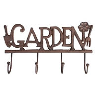 Cast Iron 'Garden' Tool Hook