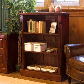 Solid Mahogany Low Open Bookcase - La Roque