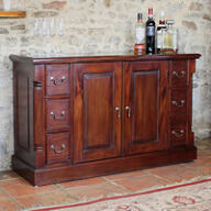 Solid Mahogany 6 Drawer Sideboard - La Roque
