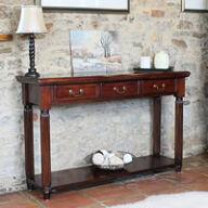 Solid Mahogany Console Table - La Roque