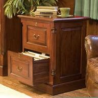 Two Drawer Mahogany Filing Cabinet - La Roque