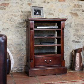 Solid Mahogany Media Cabinet - La Roque