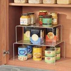 2 x Stacking & Extending Kitchen Cupboard Shelves