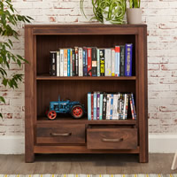Low Bookcase with 2 Drawers - Mayan