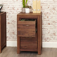 Two Drawer Walnut Filing Cabinet - Mayan
