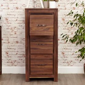 Three Drawer Walnut Filing Cabinet - Mayan