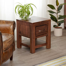 One Drawer Lamp Table - Mayan