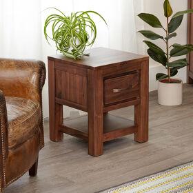 One Drawer Lamp Table - Mayan