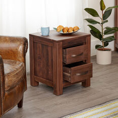 Two Drawer Lamp Table - Mayan