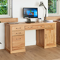Twin Pedestal Computer Desk - Mobel