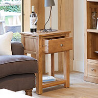 One Drawer Lamp Table - Mobel