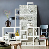 Tetris Stacking Shelves - White